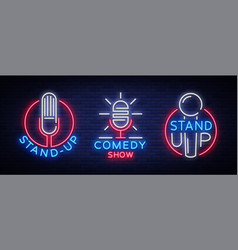 Comedy show stand up an invitation collection of vector