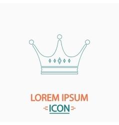 Crown computer symbol vector
