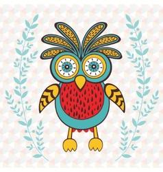 Cute spring owl vector image vector image