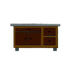 desk furniture work office image vector image vector image