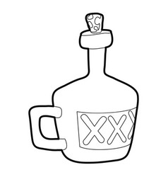 drink icon outline vector image
