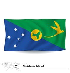 Flag of christmas island vector