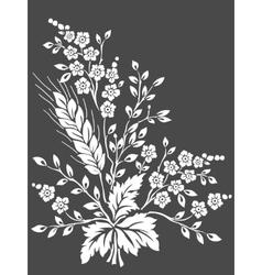 floral design element for page decoration vector image