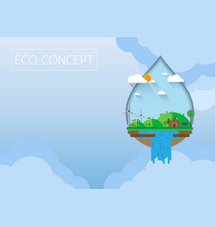 green eco concept with flat design vector image vector image