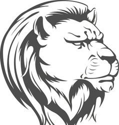 Heraldic lion head silhouette vector