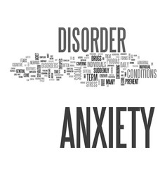 Jacketed general anxiety disorder text background vector