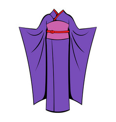 Japanese kimono icon cartoon vector