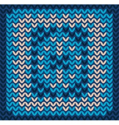 Knitted decorative background vector