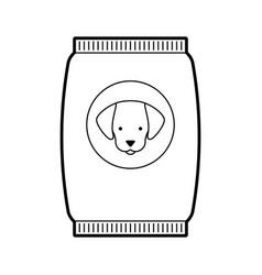 Mascot food bag icon vector
