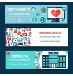 Medical flyer design vector