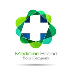 Medical pharmacy logo design Template for your vector image vector image