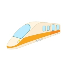 Modern high speed passenger commuter train icon vector
