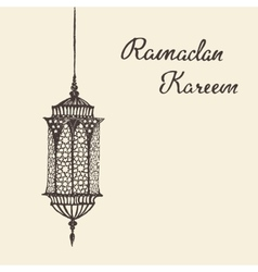 Ramadan celebration hand drawn vector