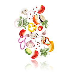 sliced vegetables concept vector image