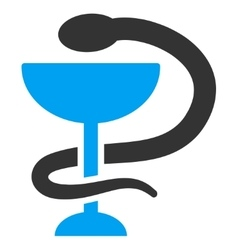 Snake Cup Icon vector image