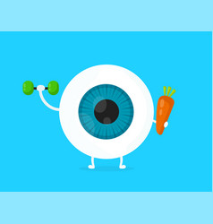strong healthy white eye eyeball vector image vector image