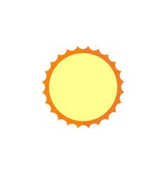 Sun flat icon travel tourism vector