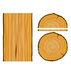Timber and wood texture with elements vector image vector image