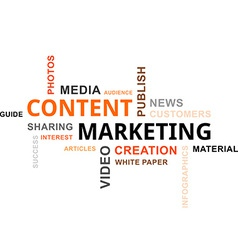 word cloud content marketing vector image vector image