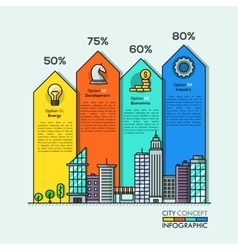 City life Infographic arrows vector image