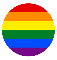 rainbow flag in circle shape vector image