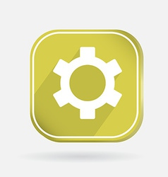Color icon symbol settings cogwheel vector