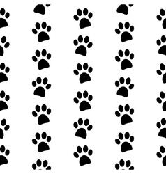Paw symbol seamless pattern vector