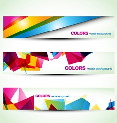 Abstract banner set designs vector