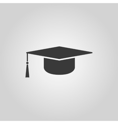 The graduation cap icon education symbol vector