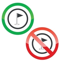 Golf permission signs vector