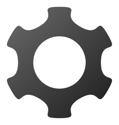 Gear gradient icon vector