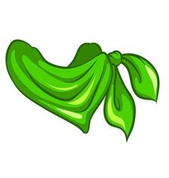 A green scarf vector