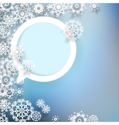 Abstract design with snowflakes EPS10 vector image