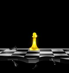 Abstract golden chessmen vector