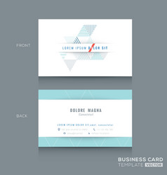 Abstract triangle stripe shape business card vector
