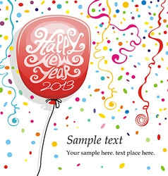 Balloons and confetti vector