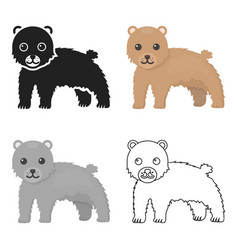 Bear icon cartoon singe animal icon from the big vector