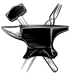 Blacksmith anvil on white background vector image vector image