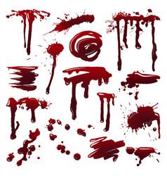 Blood splatters set vector