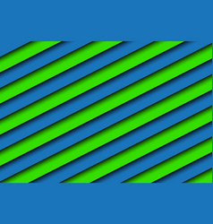 blue and green abstract background with stripes vector image
