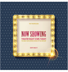Cinema golden square frame vector