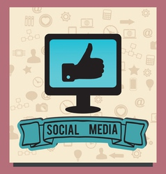 Concept of socilal media with background icons vector image vector image