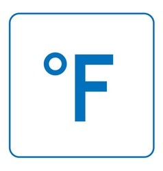 Fahrenheit degree icon vector
