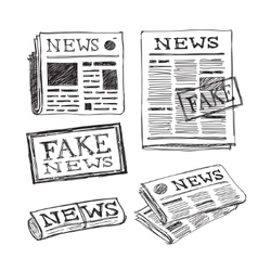 Fake news icon vector