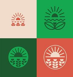 Floral emblems set vector image vector image