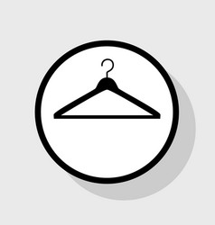 hanger sign flat black icon vector image vector image