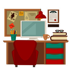 Home parlor workplace furniture accessories vector
