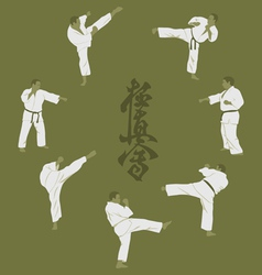 men engaged in karate vector image vector image