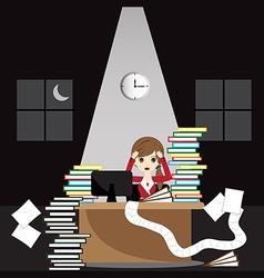 Overworked businesswoman vector image