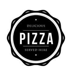 Pizza vintage stamp vector image vector image